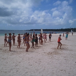 Zumba on the beach!