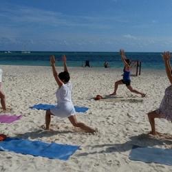classes on the beach!