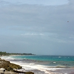 Tip of Crescent - 20 min to Mayan ruins on free bike