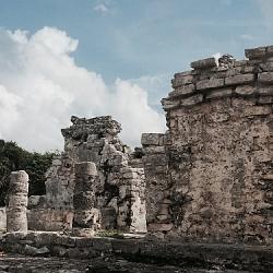 Mayan ruins down the street