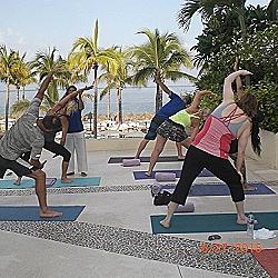 Secrets Resort [Veena teaching yoga}