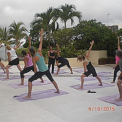 Valerta Bay Resort,veena teaching yoga