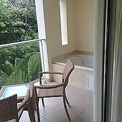 Balcony with jacuzzi tub!