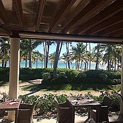 Breakfast view from La Riviera