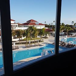 View from Dreams Dominicus Gym