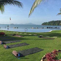 Lovely location for morning yoga class