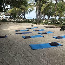 Morning yoga location
